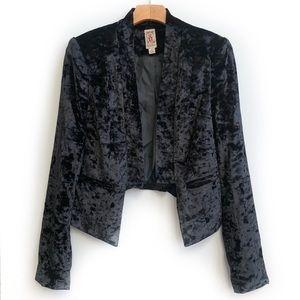 Decree crushed velvet blazer